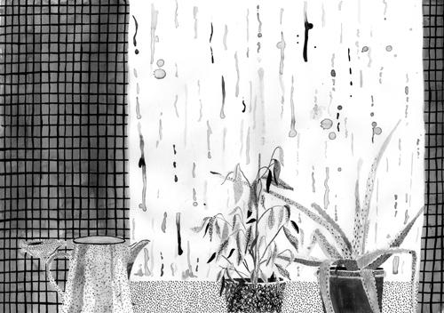 Rain Day artist's book