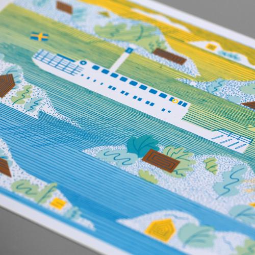 Archipelago lithograph
