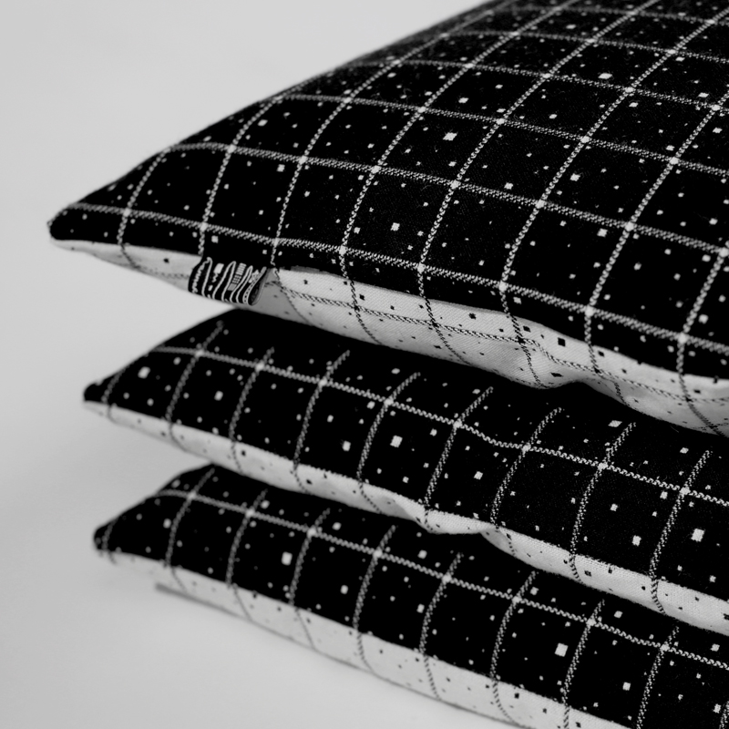 Fabric of space time cushion hannah waldron for Space fabric