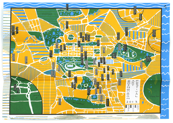 Edinburgh Art Festival map