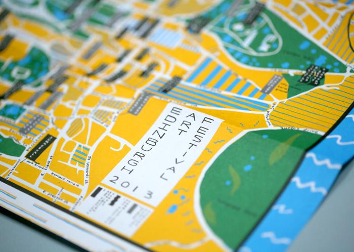 Edinburgh Art Festival map